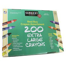 200 Count Crayons - Big-Ones/Extra Large Size - Set of 8 - 25 of Each