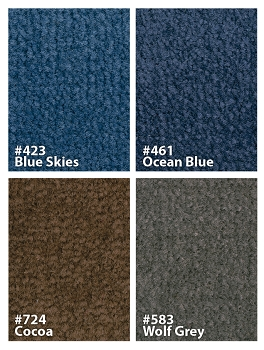 Mt Shasta Rug, Choice of Sizes and Colors
