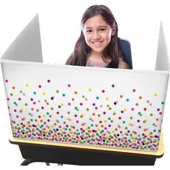 Classroom Privacy Screen , select a designer pattern, either Confetti, Reclaimed Wood or Chalkboard Brights - Order in bulk and save