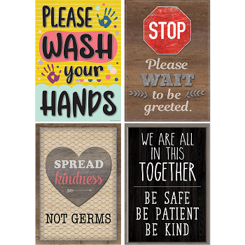 10% Off orders of $50+ on items in our Back to School Sale: Health & Safety Posters, Pack of 4