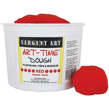 Art Time Dough, 3 lb - Red