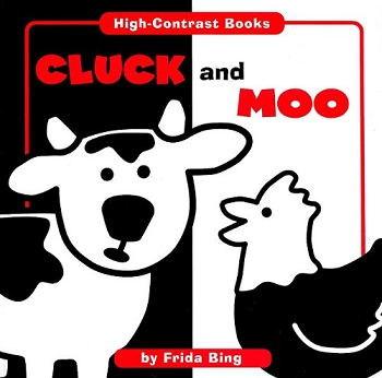 High Contrast Board Book - Cluck and Moo