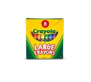 Large Crayons - 8 Count
