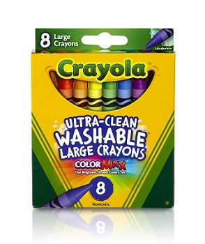 Crayola Large Ultra-Clean Washable Crayons - 8 Count