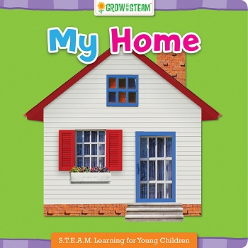 Grow With Steam Board Book - My Home