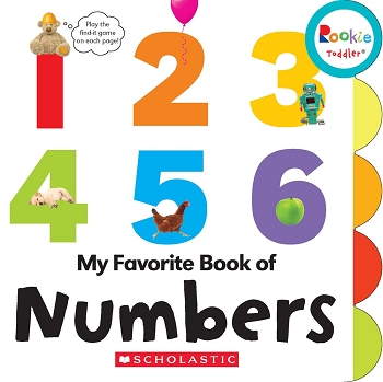 Rookie Toddler Board Book - My Favorite Book Numbers