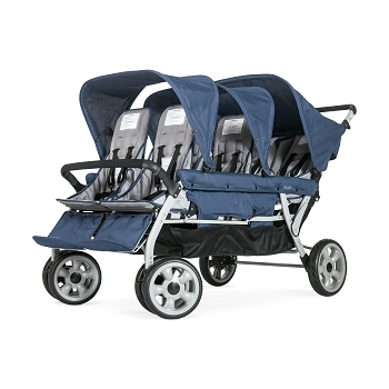 Gaggle Jamboree 6-Seat Folding Stroller with Canopy - Navy/Gray