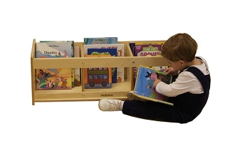 Open Top Toddler Book Browser & Display, Fully Assembled
