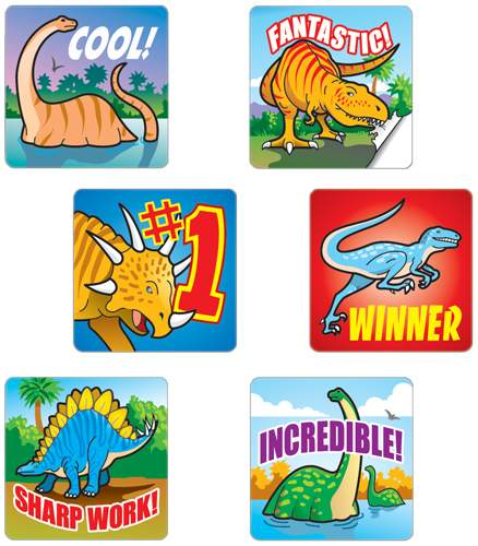 Dinosaurs - Motivational Stickers