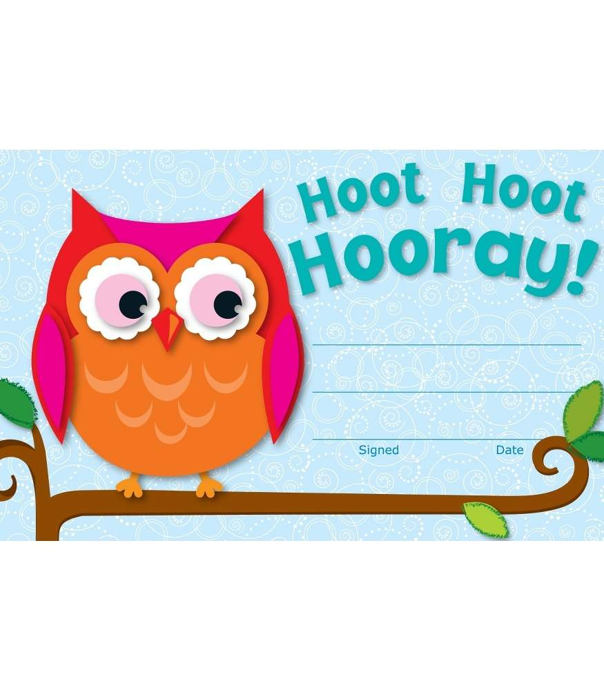 Hoot Hoot Hooray! - Recognition Awards