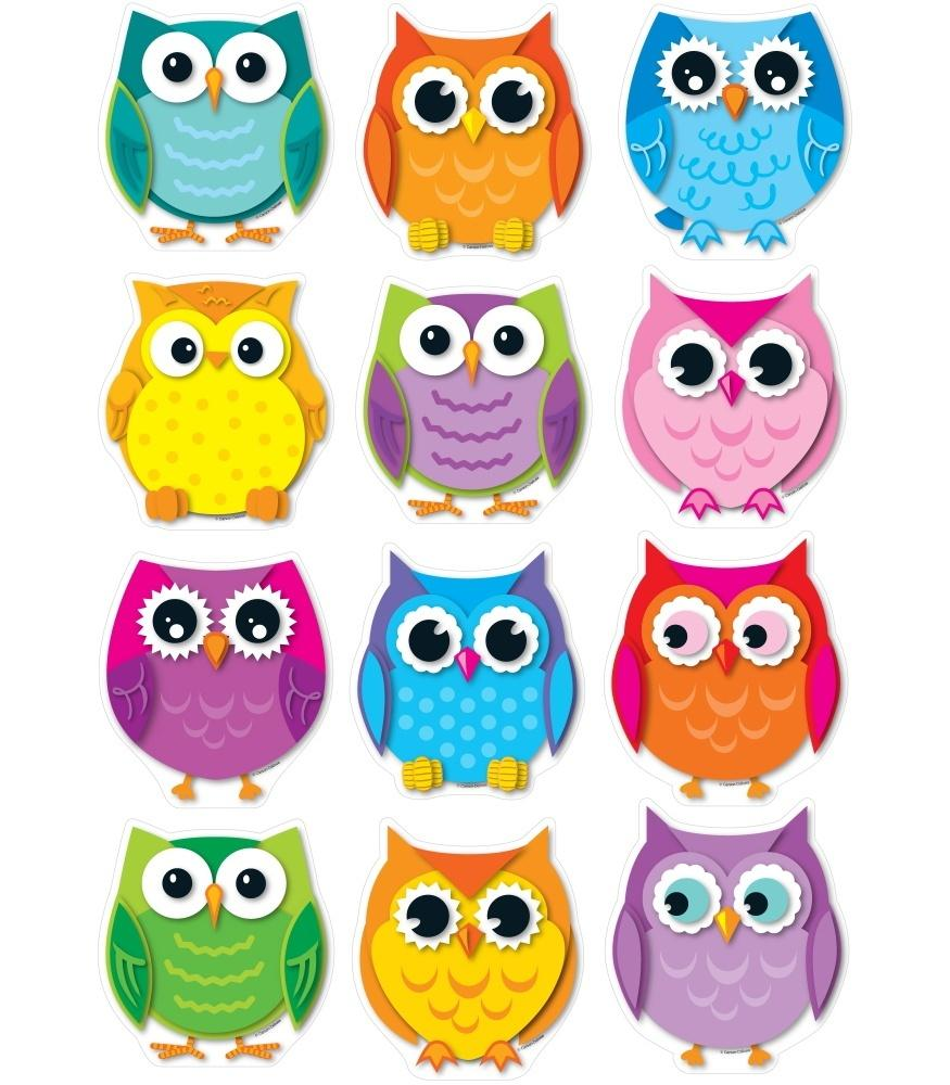 Colorful Owls - Cut-Outs