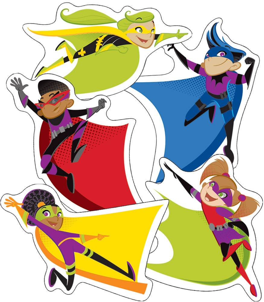 Super Power Super Kids - Cut-Outs