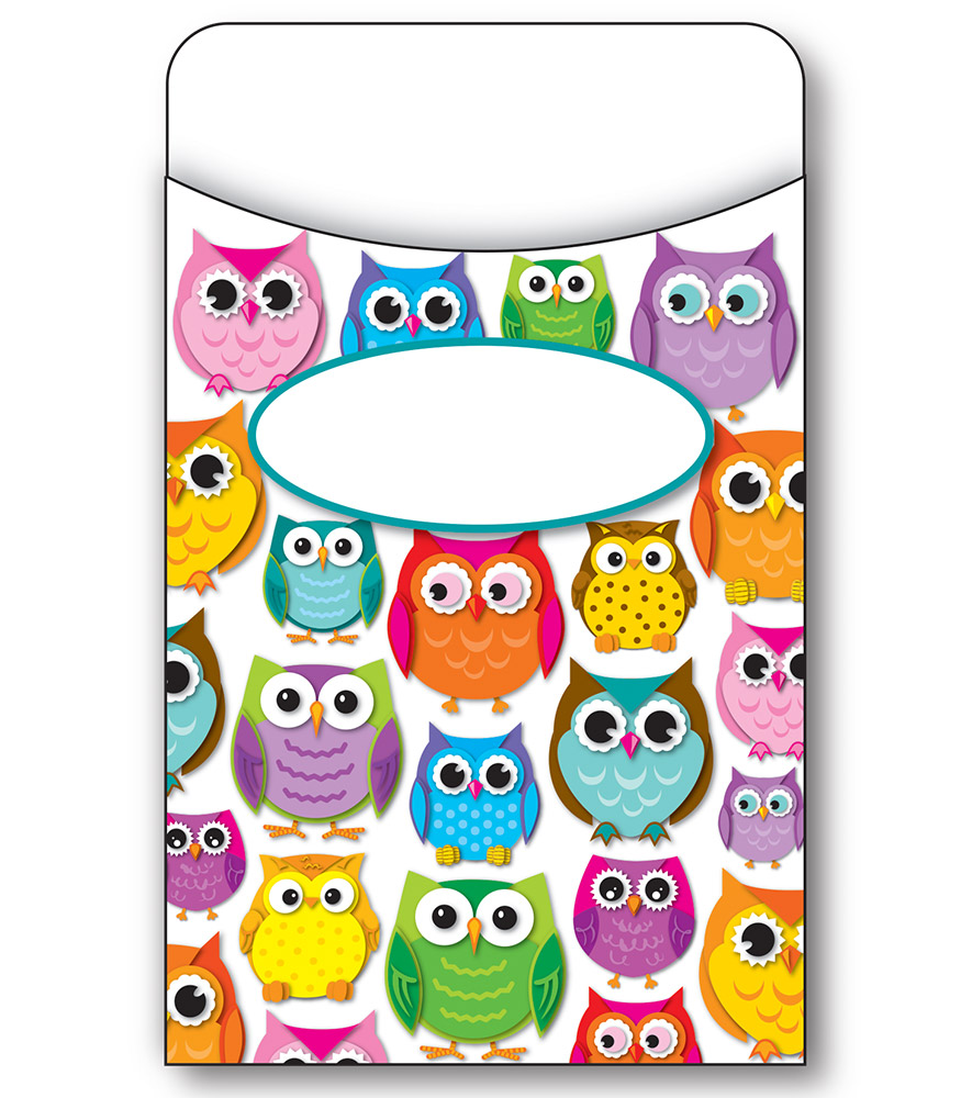 Colorful Owls - Library Pockets