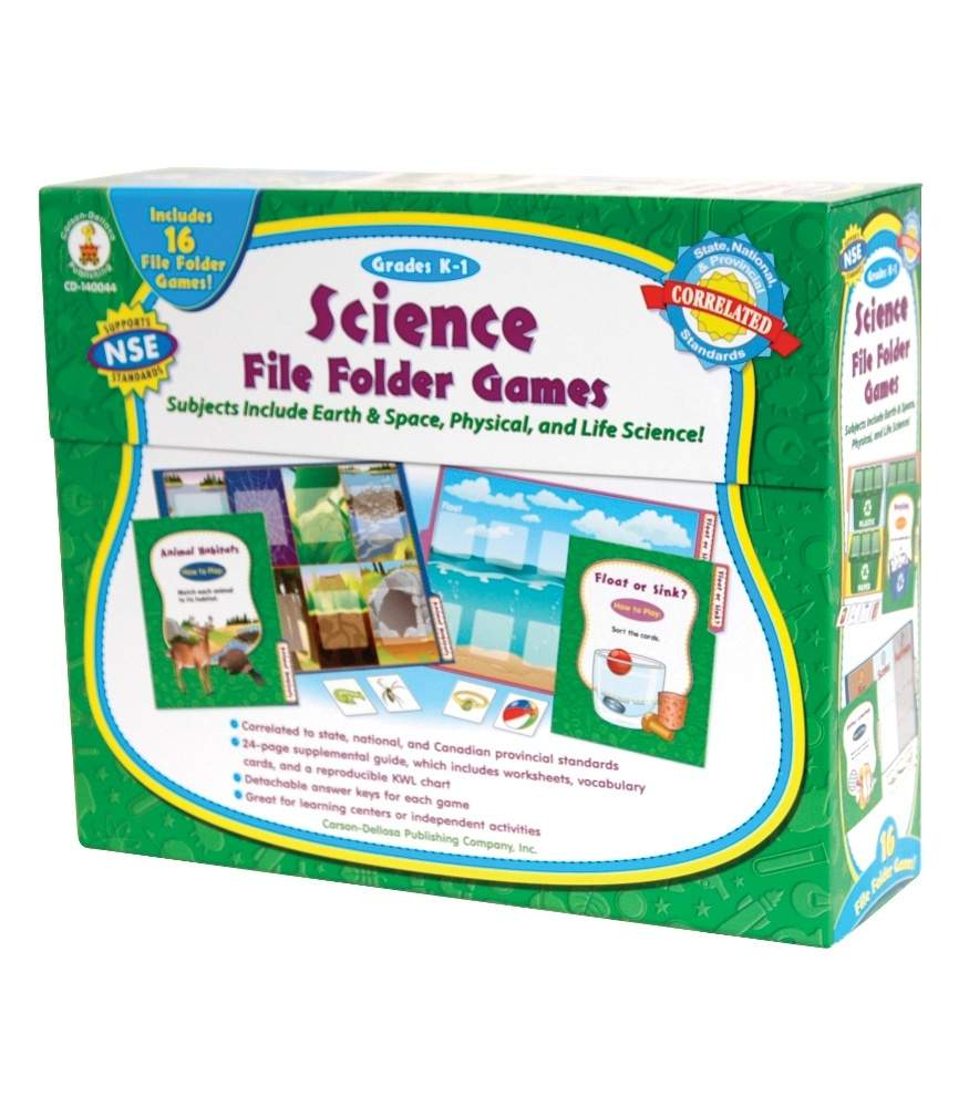 Science File Folder Games File Folder Game