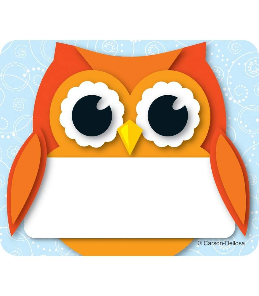 Colorful Owl - Name Tags