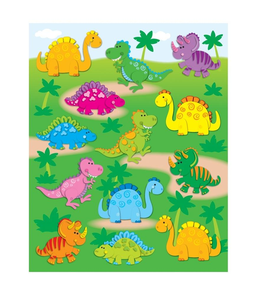 Dinosaurs - Shape Stickers