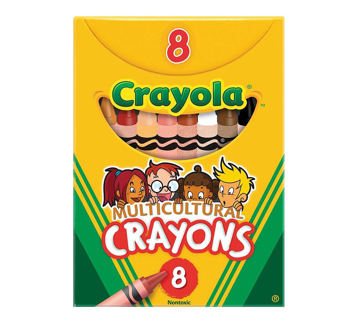 Multicultural Crayons - 8 Count