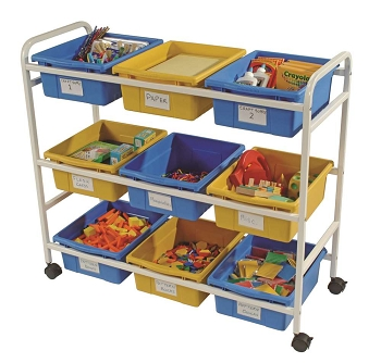 Multi-Purpose Cart with Bins