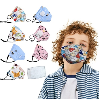 10% Off orders of $50+ on items included in our Back to School Sale: Reusable Cotton Children's Protective Face Mask with N95 filter, Set of 4 or more, only $7.95 each in bulk