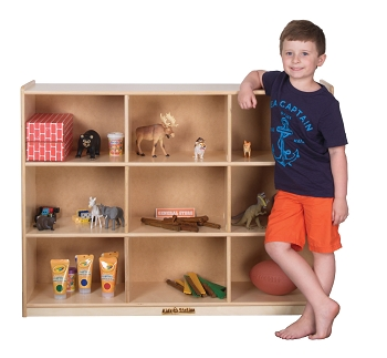 Value Line Jumbo Cubbies for 9, Ideal for Preschool and School Age Backs or Infant Diaper Bags