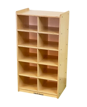 Value Line Free Standing Cubby Storage Unit, 10 Sections, without trays
