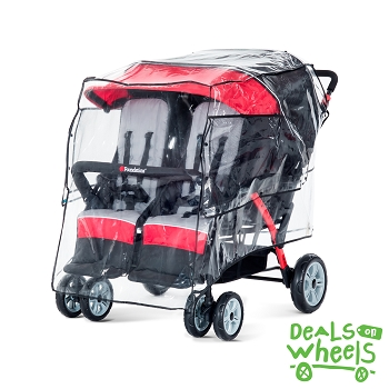 The LX4 TM and Quad Rain Cover ( stroller sold separately)