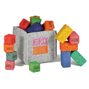 KORXX Eco-Brix with Storage, 17-Piece - Assorted Colors