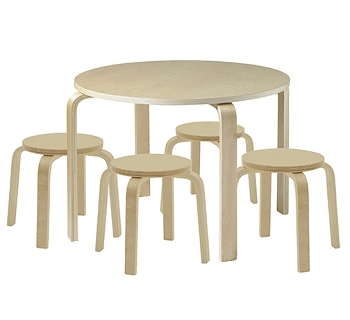 Bentwood Table and Stools Set