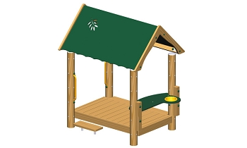 Breezeway Playhouse - Metal or Wood Available