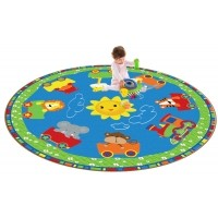 Cutie Train Nursery School Rug - 2 Sizes