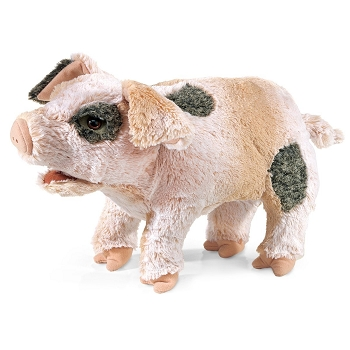 Grunting Pig Hand Puppet, 14'' Long