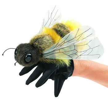 Honey Bee Hand Puppet, 7'' Long