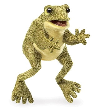 Funny Frog Hand Puppet, 12'' Tall