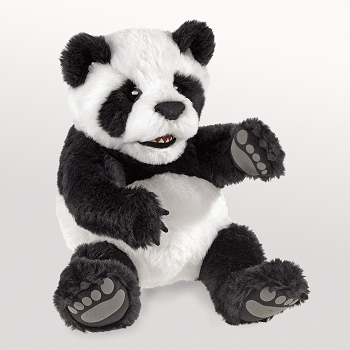 Baby Panda Puppet, 9'' Long x 9'' Tall