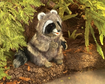 Raccoon Puppet, 13'' Tall