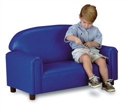 Brand New World 'Just Like Home' Preschool Vinyl Sofa - Choice of Colors
