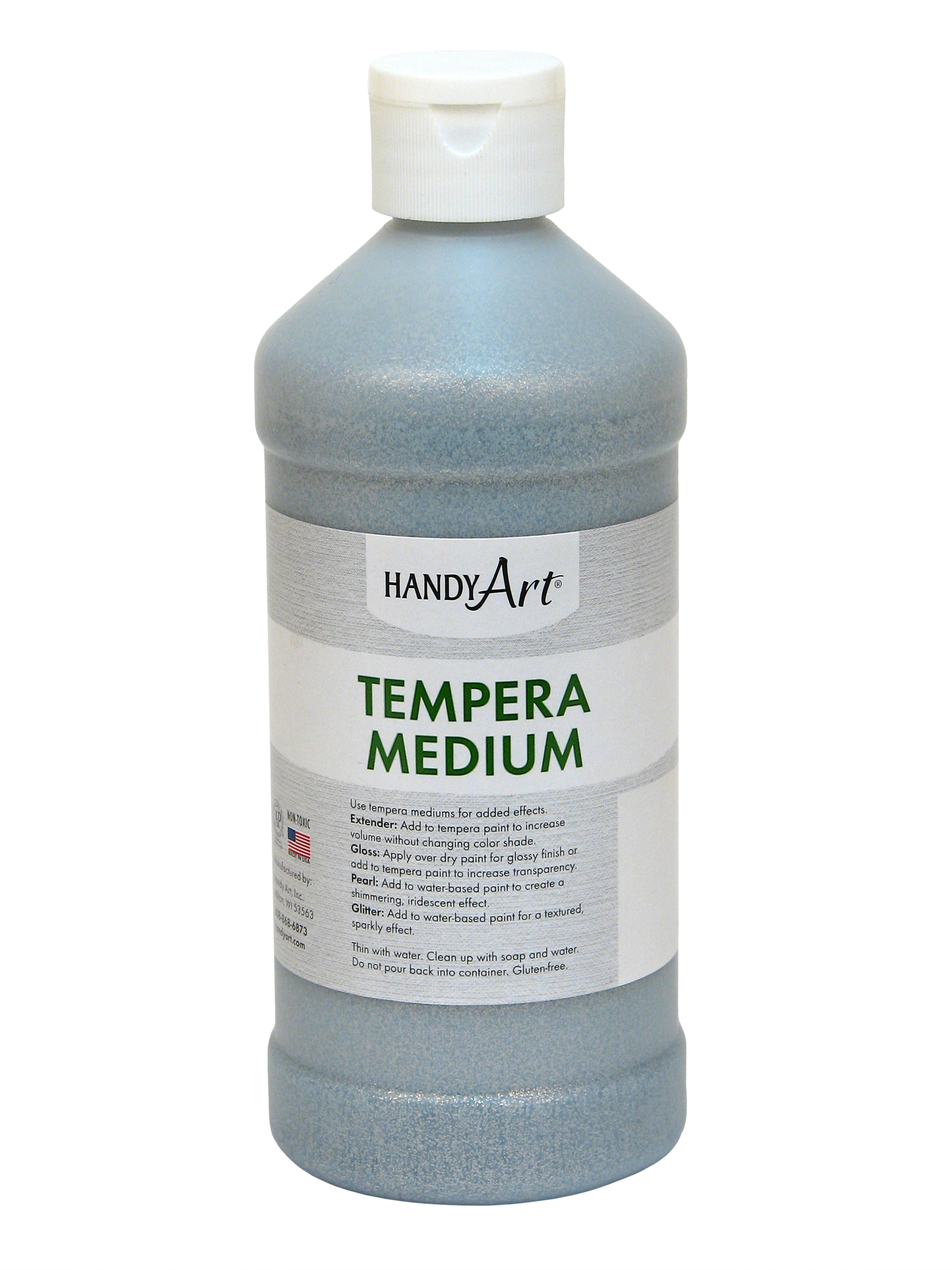 Handy Art Tempera Medium - Glitter, 16 oz