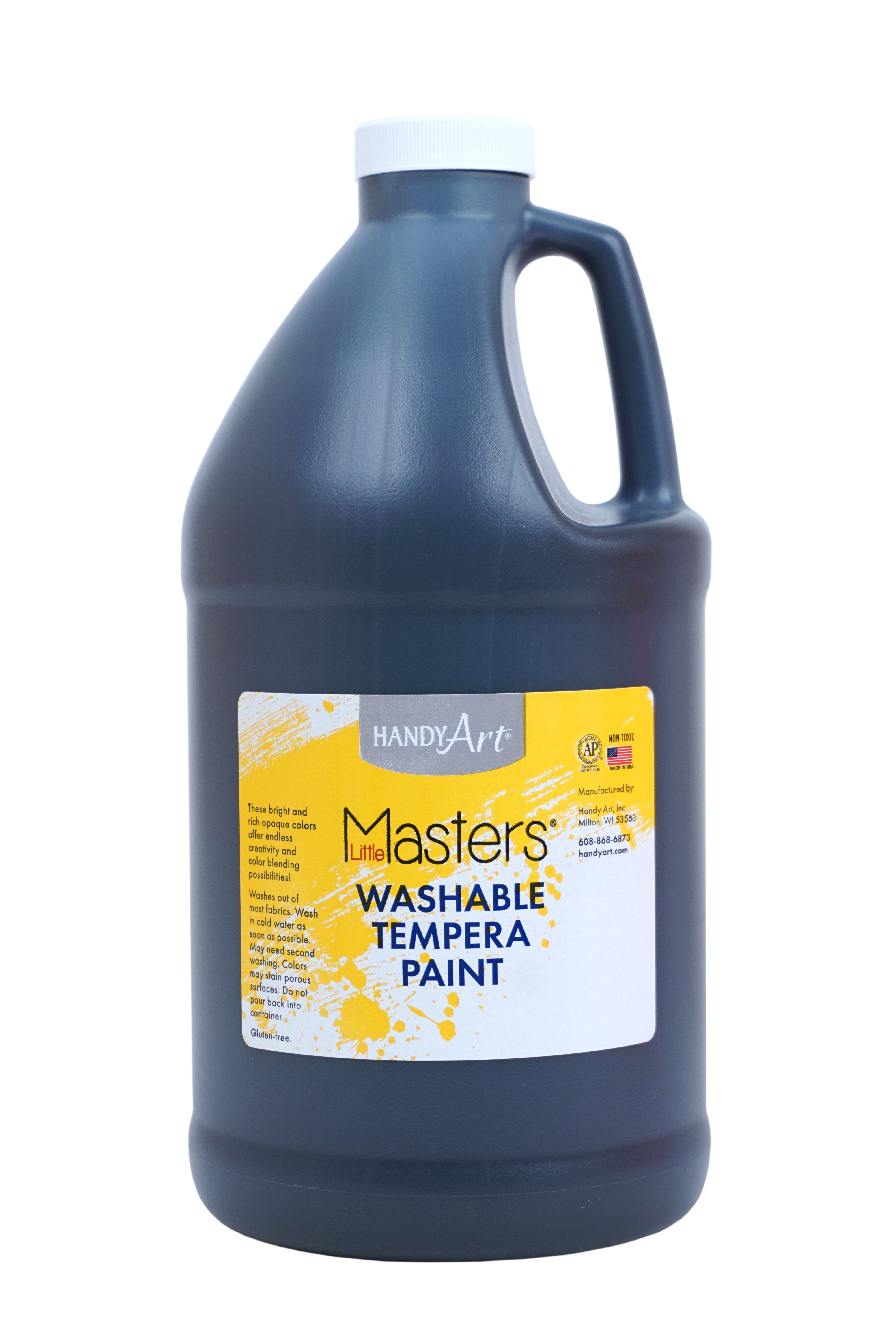 Little Masters Black Washable Tempera Paint, 1/2 Gallon