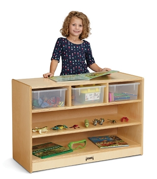 STEM Combo Mobile Storage Unit with clear tubs