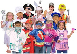 Classroom Role Play Costumes, Set of 10