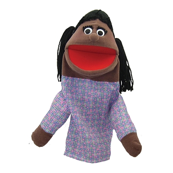 Half Body Family Puppets Girl African American