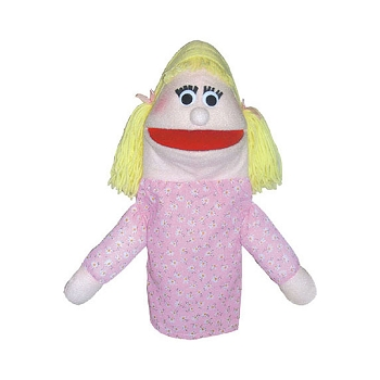 Half Body Family Puppets Girl Caucasian
