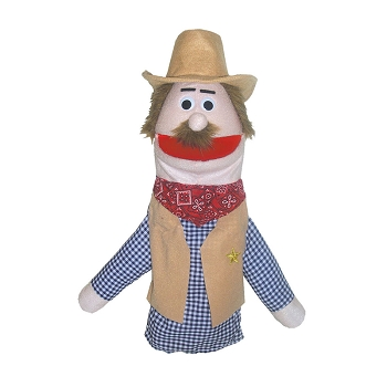 Half Body Character Puppets Cowboy Dusty Caucasian