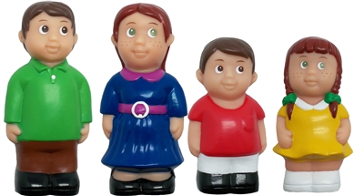 Caucasian Family 5'' Block Play Chunky Friends Figures - Set of 4