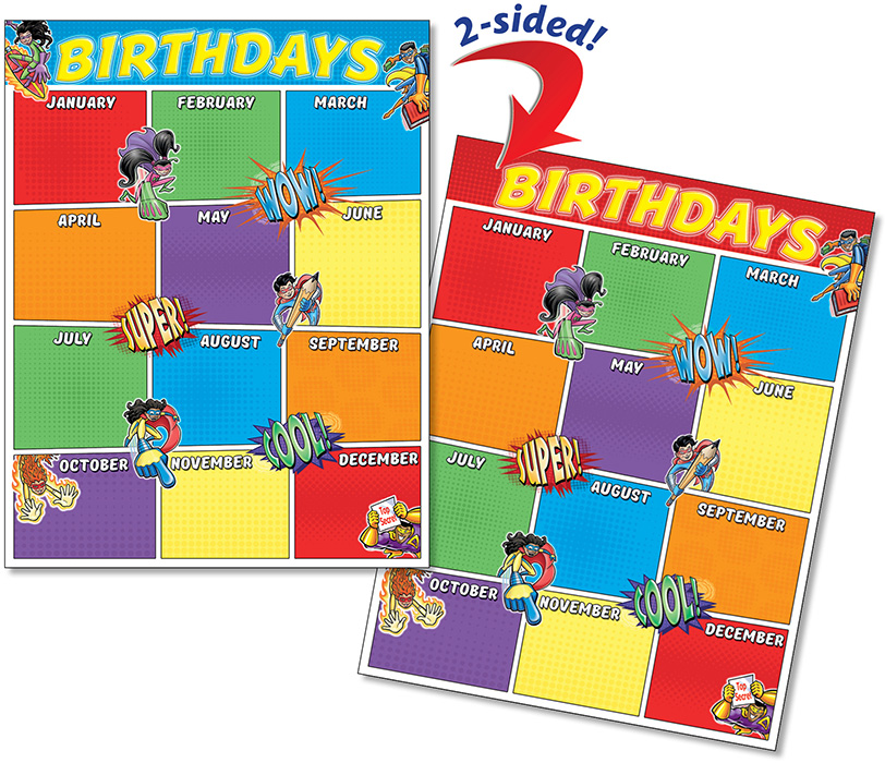 Birthday Superheros - Quick Flip Poster