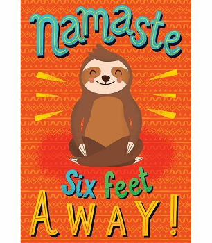 Namaste Six Feet Away! Poster