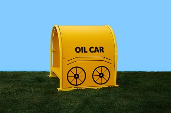 Oil Car - Single Tunnel, order independently or add to other cars for a complete Train Set