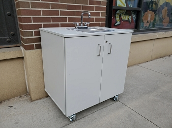 SHIPS IN 1 WEEK! Portable Indoor/Outdoor Handwash Sink, in Child or Adult size, with or without Water Heater.