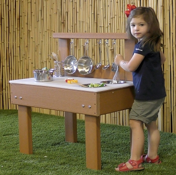 Value line Indoor/Outdoor Toddler Mud Kitchen with Utensils
