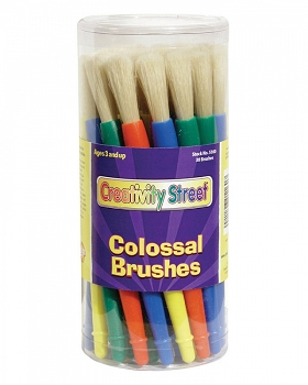 Creativity Street Colossal Brushes, 30 Pack
